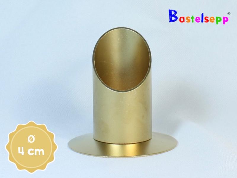 kerzenst nder 104 gold kerzenteller rund 4 cm. Black Bedroom Furniture Sets. Home Design Ideas