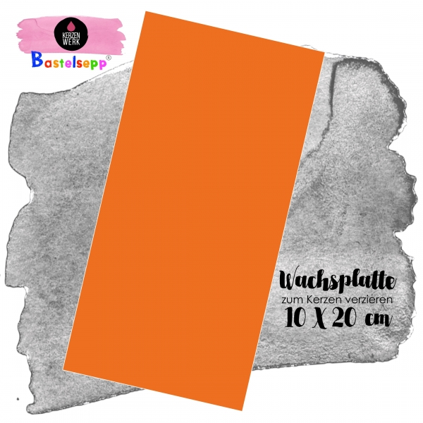 Wachsplatte Orange 20 x 10 cm